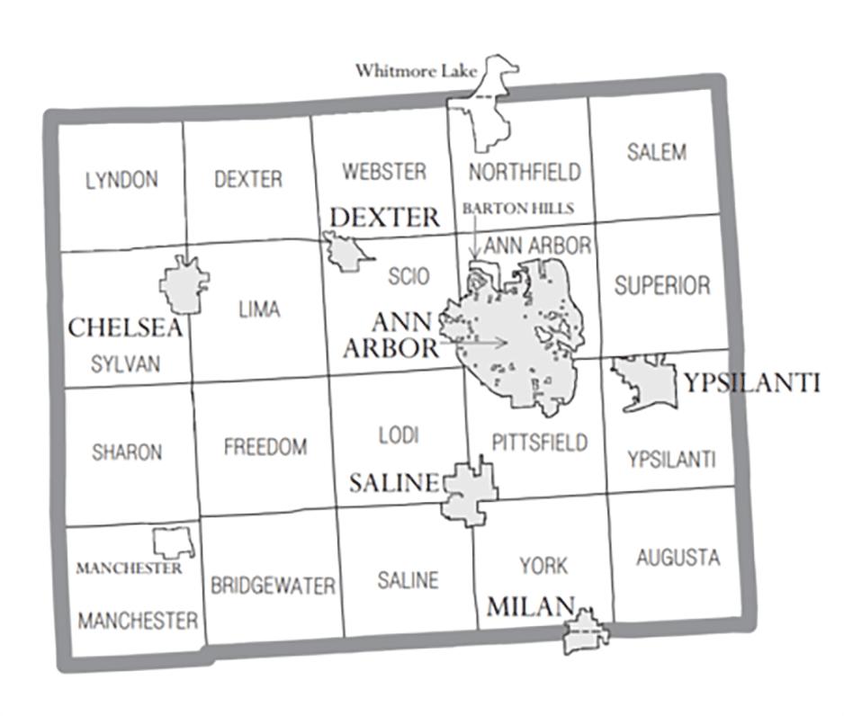 450px-Washtenaw_County_MI_census_map